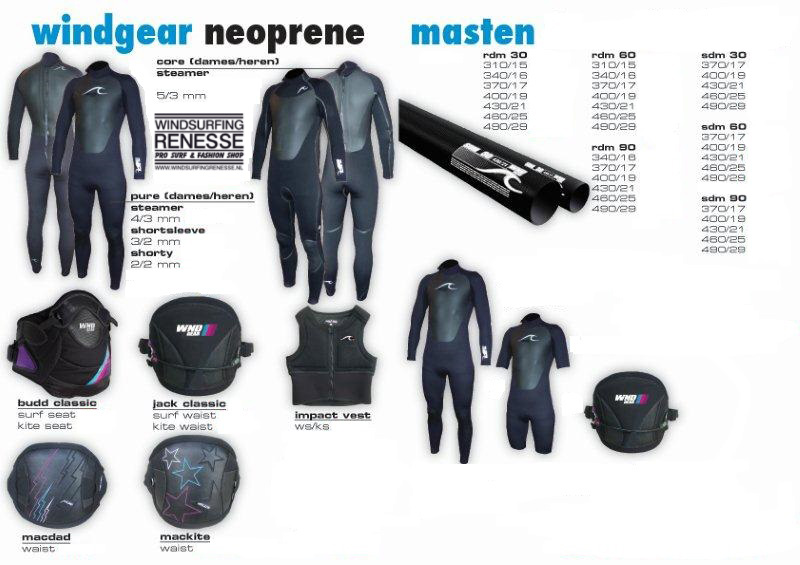 Windsurfing_Renesse_Windgear_Wetsuits_Harness_Masts_deals
