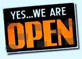 Yes... we are open